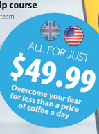 US $49.99 On-Line Fear of Flying Course